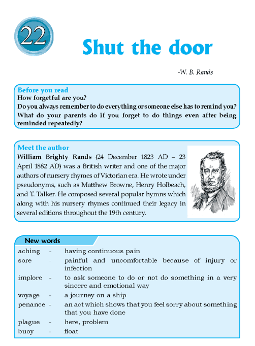 Literature Grade 6 Poetry Shut The Door