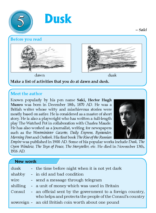 Literature Grade 6 Short stories Dusk