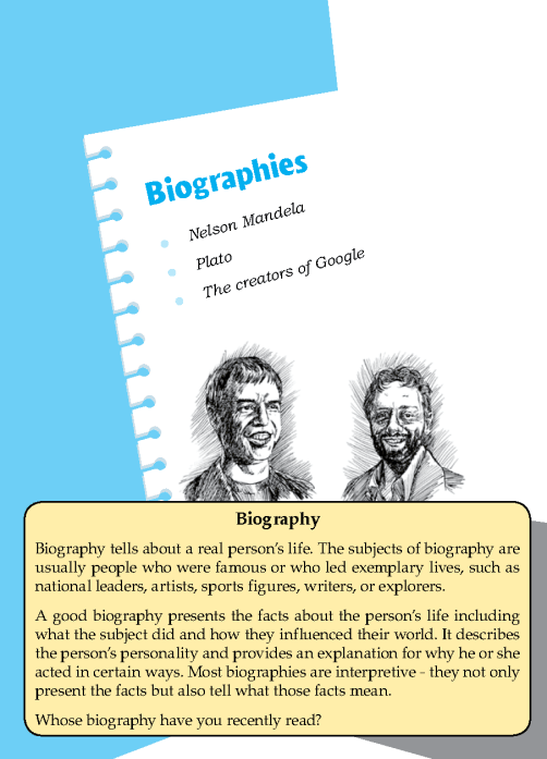 Literature Grade 7 Biographies