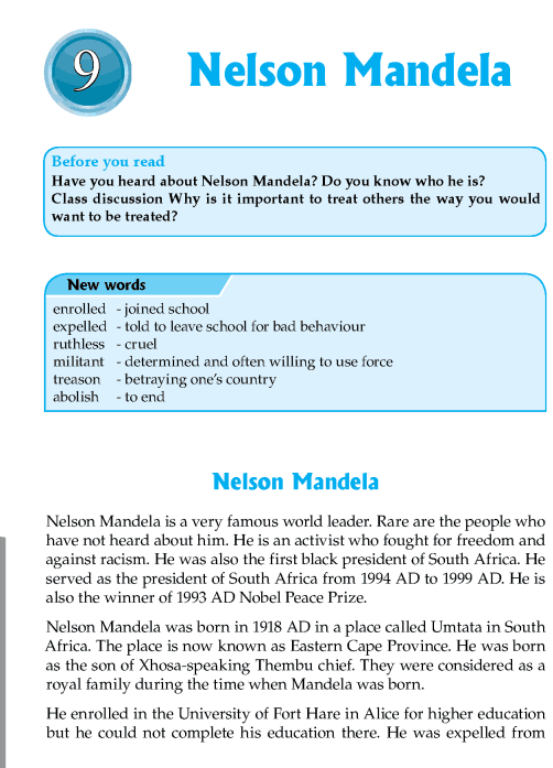 Literature Grade 7 Biographies Nelson Mandela