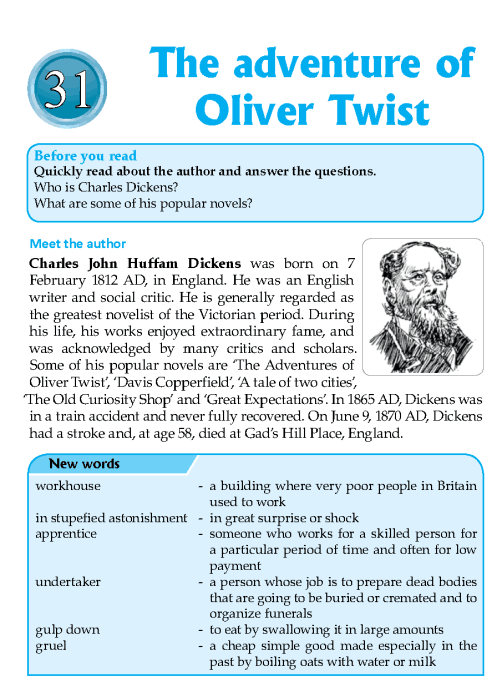 Literature Grade 7 Feature The Adventure Of Oliver Twist