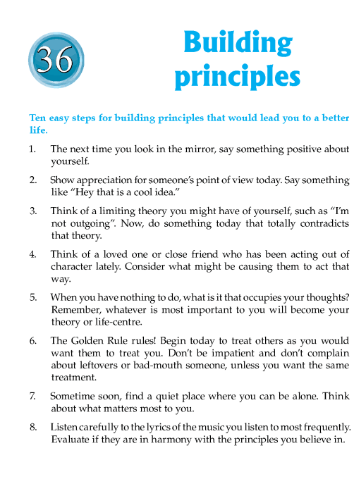 Literature Grade 7 Inspirational Building Principles
