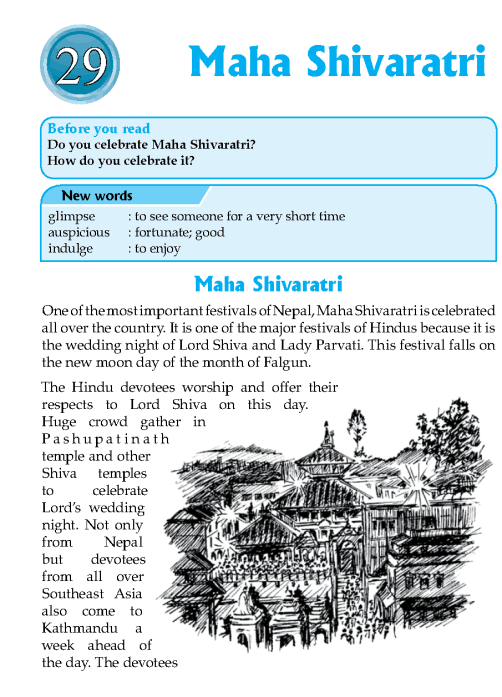 Literature Grade 7 Nepal Special Maha Shivaratri