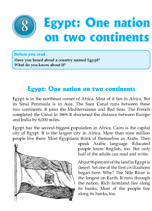 Literature Grade 7 Non-fiction Egypt: One Nation On Two Continents