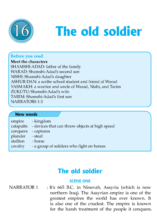 Literature Grade 7 Plays The Old Soldier