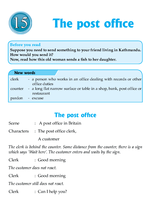 Literature Grade 7 Plays The Post Office