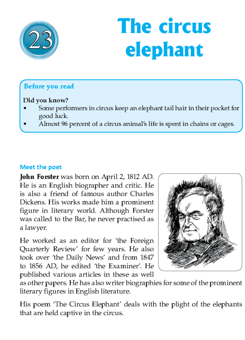 Literature Grade 7 Poetry The Circus Elephant