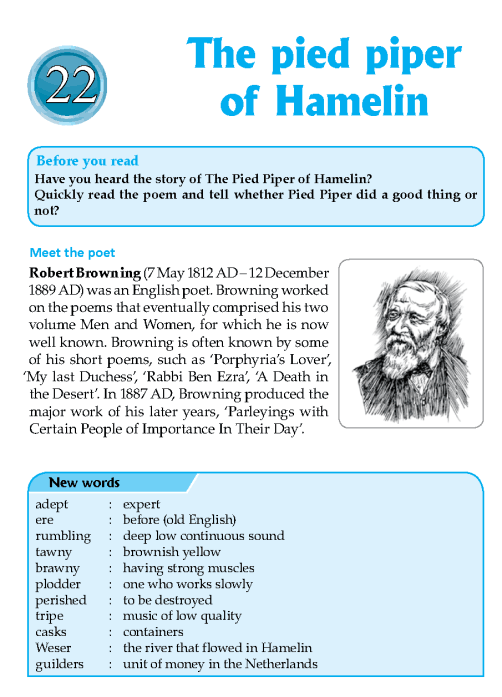 Literature Grade 7 Poetry The Pied Piper Of Hamelin