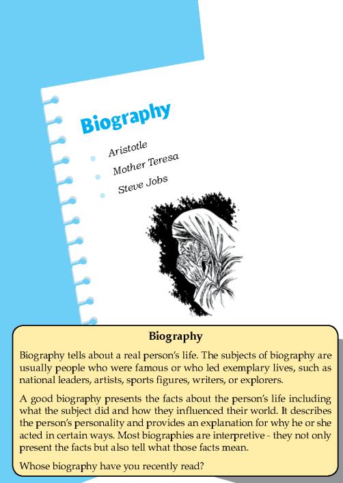 Literature Grade 8 Biography