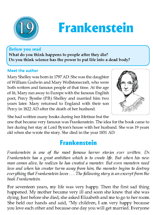 Literature Grade 8 Feature Frankenstein