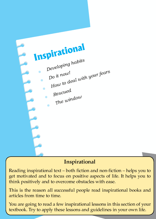 Literature Grade 8 Inspirational