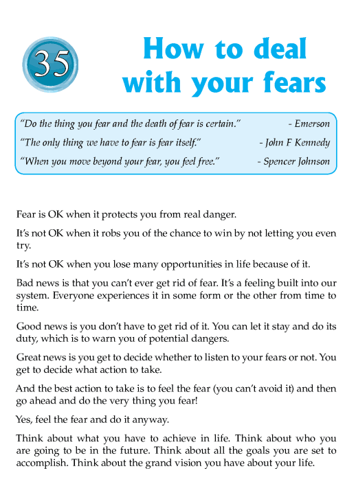 Literature Grade 8 Inspirational How To Deal With Your Fears