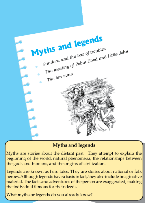 Literature Grade 8 Myths And Legends