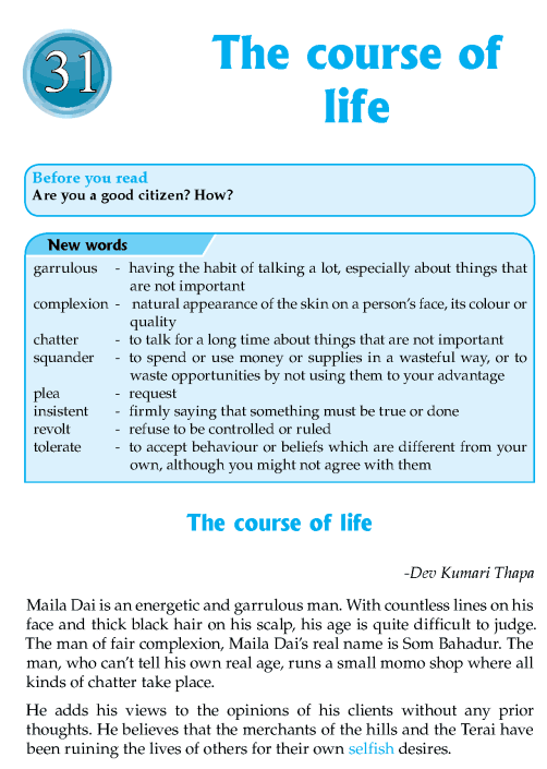 literature-grade 8-Nepal Special-The course of life (1)