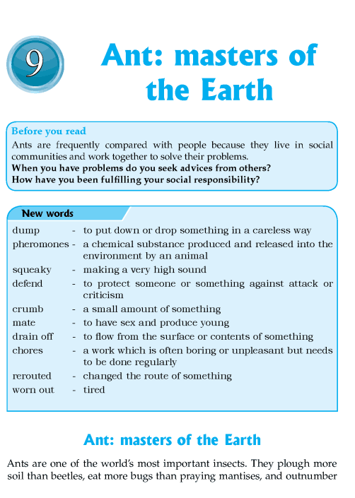 Literature Grade 8 Nonfiction Ant: Masters Of The Earth