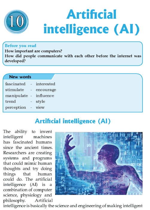Literature Grade 8 Nonfiction Artificial Intelligence (AI)