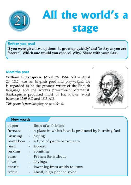 Literature Grade 8 Poetry All The World's A Stage