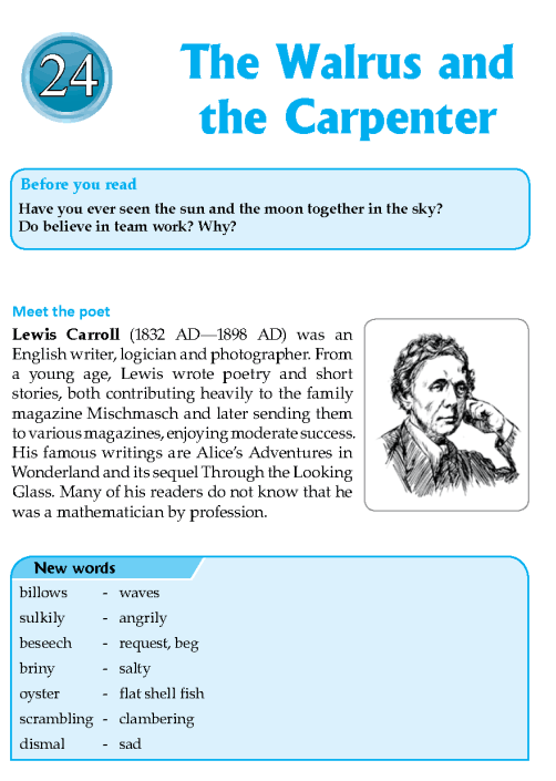 Literature Grade 8 Poetry The Walrus And The Carpenter